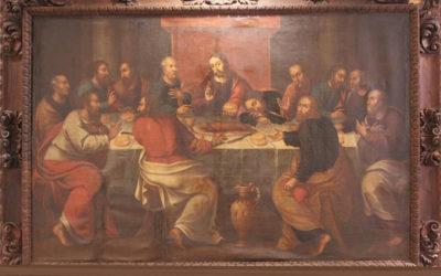 Se retira, para su restauración, la pintura de la Sagrada Cena