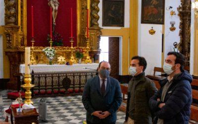 El torero Caballero del Hoyo y el pintor Pérez Indiano, visitan San Bernardo