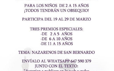 CONCURSO DE DIBUJO INFANTIL «Soy nazareno de San Bernardo»